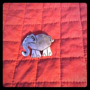 Sterling Silver .925 Elephant Pin